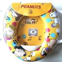 Jual Toilet Training Anak - Soft Baby Potty Seat Handle Karakter Snoopy Murah