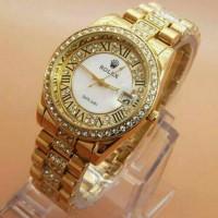 Jual Jam Tangan Wanita Rolex Balok Full Diamond Date Murah