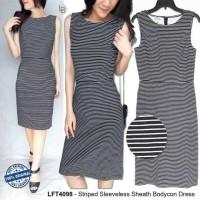 Jual Baju Branded Murah Loft Striped Sleeveless Sheath Bodycon Dress Murah