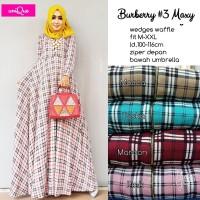 Murah Burberry Maxi Dress Gamis Muslim Wedges Waffle Import Umbrella