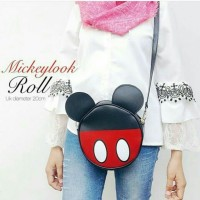 Jual sling bag roll mickey,grosir tas wanita Murah