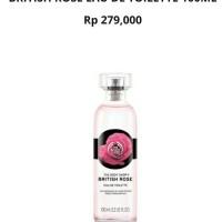 Jual British Rose Eau De Toilette 100ml The Body Shop Murah