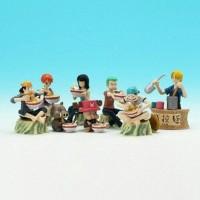 Crew Mugiwara Luffy Set Action Figure One piece nami zoro sanji robin