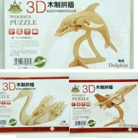 Jual 3D puzzle bhn kayu 16x23cm Murah