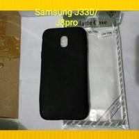 Softcase case slim mate full black samsung J330/J3pro