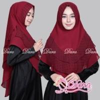 Jual Shaffa Khimar Ceruty Mixed Rubiah / Khimar Pesta / Hijab Syari Polos Murah