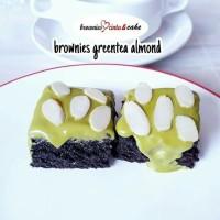 Jual Brownies Greentea Almond Murah