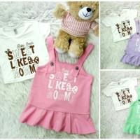 Jual Overall Dress Frill Sweet Like Mommy baju bayi anak Murah