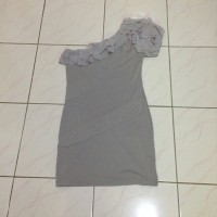 Jual Bodycon one shoulder mini dress ruffle Murah