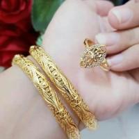 Jual paket perhiasan lapis emas 24k Murah