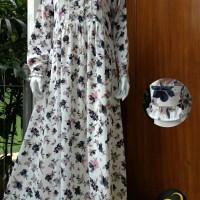Harga gamis saafia rose flowers gamis lebaran simple syari | Pembandingharga.com