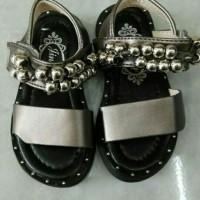 sepatu sandal anak import / asesoris tembaga / silver
