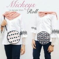 Jual sling bag roll mickey,tas wanita grosir Murah