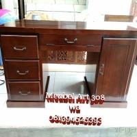 Meja Kantor Minimalis Jati (partisi, kitchen set, Meja Makan, dipan)