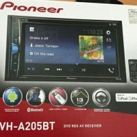 Pioneer AVH-A205BT Head Unit Double Din Tape Mobil AVH A 205 BT AUDIO.