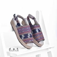 Jual Sepatu Platforms Etnik - Nadhira Tribal Blue Murah