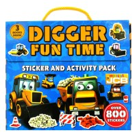 My First JCB Digger Fun Time Sticker and Activity Pack