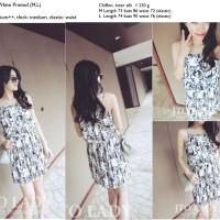 Jual S3637 Dress Import Casual Chiffon Flower Cina  KODE YT3637 Murah