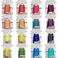 Cape Brokat Brukat Atasan Blouse Outerwear Outfit Kondangan Grosir BSB
