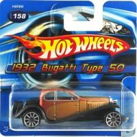 Hotwheels 1932 Bugatti Type 50 Short card