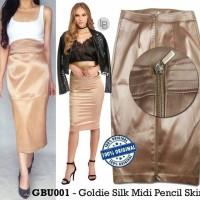 Jual DAPATKAN HARGA SPECIAL Gabrielle Union Goldie Silk Midi Pencil Skirt Murah