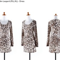 Jual S765 Dress bodycon leopard silk katun murah i KODE YT765 Murah