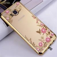 Casing Hp Cover Samsung S7 S7 EDGE S8 S8 Plus Flower Diamond Softcase