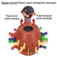 Jual  Mainan Pirate Roulette Lucky Game Kurohige Ipatsu  Tong Baja T0210 Murah