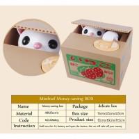 Jual  Celengan Kucing Imut Lucu  Itazura Kitty Saving Box T0210 Murah