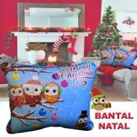 Jual GROSIR BANTAL NATAL OWL - BANTAL SOFA CHRISTMAS Murah