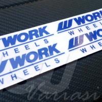Sticker Decal Velg Work Wheels Murah