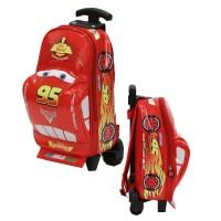 Jual Tas Trolley Play Group Cars McQueen Unik Lucu - Merah Bagus