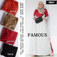 Baju Gamis famous by uwais Long Dress Syari