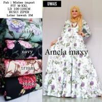 Baju Gamis Amela maxy by Uwais Long Dress Syari