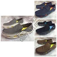 Harga murah (GARANSI TERMURAH) Sepatu Pria Crocs Tideline Sport Canvas