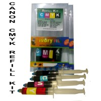 tinta refill isi ulang canon CMYK 4warna cartridge printer MP IP serie