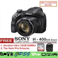 Sony DSC H400 - 20.1 MP - 63x Optical Zoom Free Tas Memory