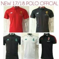 Jual Kaos Polo Shirt Bola Liverpool Real Madrid AC Milan 17/18 Grade Ori Murah