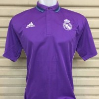Jual Polo Shirt Real Madrid Ungu New - Grade Ori Murah
