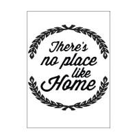 Poster Quotes There No Place Like Home Dekorasi Rumah Shabby Keluarga