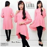 [ Hem Laura Salem SW] pakaian wanita kemeja T278-268