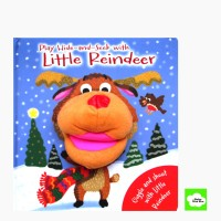 Jual Play Hide and Seek with Little Reindeer Board Book with Hand Puppet  Murah