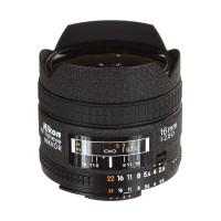 Nikon AF 16mm f-2.8D Fisheye Lensa Kamera Black