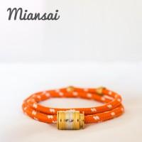gelang fashion pria/wanita MIANSAI orange with gold bangle