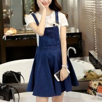 Jual KR-SP Joy Denim Overall SkirtNew Fashion Korea PD11 Murah