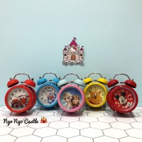 Jual Jam Weker Classic Anak Small Kitty, Frozen, Doraemon, Cars, Spiderman Murah