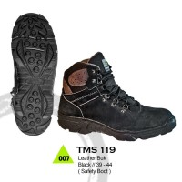 Sepatu Boots Pria Kulit Safety Hiking Adventure Mdl Eiger Rei ATMS 119