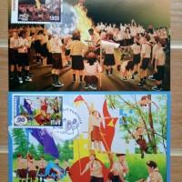 Maximum Card (2 pcs) Jambore Nasional Pramuka, Sumedang 2006, mint