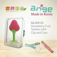 Jual ANGE STRAWBERRY TEETHER + CLIP & CASE / ANGE FRUIT TEETHER WITH CASE Murah