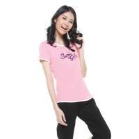 harga Surfer Girl - Kaos Casual Lengan Pendek Pink - 8andaluce Tokopedia.com